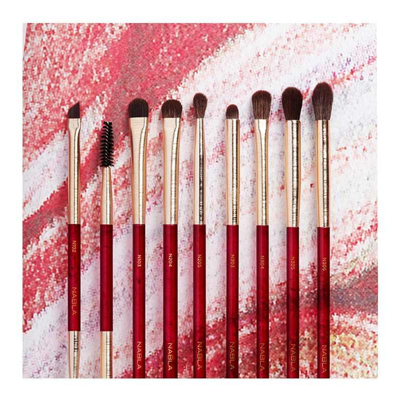 Ruby Complete Eye Brush Set - Nabla Cosmetics
